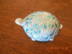 Régi Zsolnay eozin alapmázas repesztett teknős, ritka.