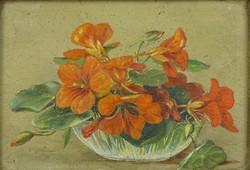 0S586 Ismeretlen művész : Virágcsendélet