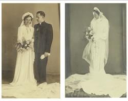 0S606 Régi esküvői fotográfia pár ~ 1930