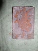 Absztrahált betonkakas sgrafito 12 x 8 cm. --Lehoczky József