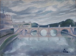 Róma, Ponte Sant'Angelo - olajfestmény