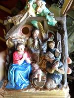 22 cm magas , 15 cm széles , 8 cm mély , gipsz Betlehem , szép állapotban