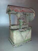 Antik lemezjáték tárcsás vízkiemelő modell - makett - jelzett