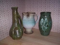 3 régi kerámia váza (119.)