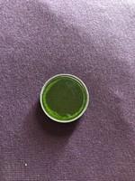 Kis zöld színszűrő, bőr tokkal
