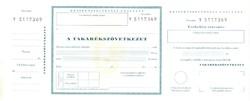 Takarékszövetkezet - Készpénzfelvételi utalvány