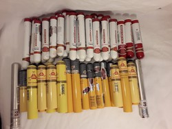 Szivar tubusok üresen 56 db - a sárga tubusok elkeltek!