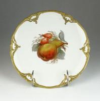 0R307 Antik körtés KPM porcelán dísztányér