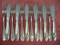 Ezüst Halas étkészlet 6 személyes, Klinkosch mesterjeles