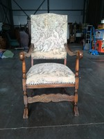 Antik gobelines fotel