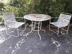 Retro kerti asztal, szék
