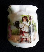Antik gyermekéletképes tejszínkiöntő