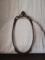 1,-Ft Különleges nagyméretű antik fém florentin keret!