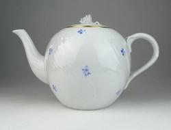 0S703 Régi virágmintás Herendi porcelán teáskanna