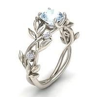 925-s ezüst gyűrű akvamarin kővel ffcf0aef11