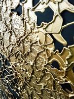 Absztrakt modern festmény 3D arany színű mintázattal