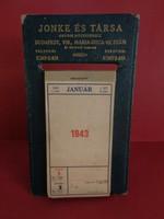 1943.JONKE ÉS TÁRSA ASZTALI ÉVES NAPTÁR - REKLÁM