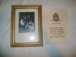 Szentáldozási emlék 1963 keretben és házi áldás