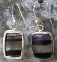 925 ezüst fülbevaló fluorit kövekkel
