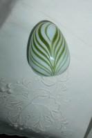Muránoi opál üveg levélnehezék szép kézműves munka
