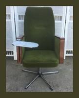 Retro forgó fotel,karfából kinyitható tálcával és hamutartóval,