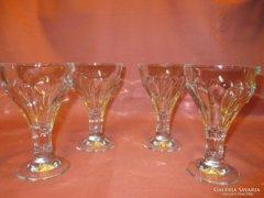 4 db szépséges üveg kehely