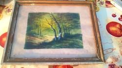 Régi kisméretű festmény