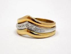 Tricolor arany köves gyűrű (ZAL-Au71334)