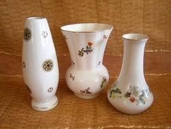 Kerámia (Kispész) és porcelán (Aquinumi) vázák darabra 13-16 cm magasak