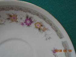 6 db régebbi virágos kínai porcelán csésze alátét-11,8 cm