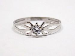 Fehér arany köves gyűrű (ZAL-Au70373)