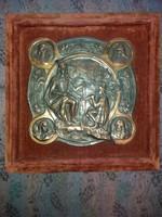 Kallós Ede (1866-1950 ) bronz dombormű: II. Rákóczi Ferenc