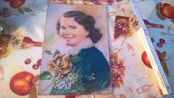 Szép női portré festmény