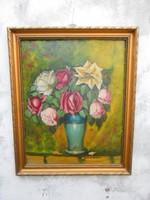 Gábor Móric(1889-1987)Art deco virágcsendélet.Számla.Garancia.