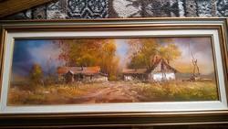 Benda Zoltán: Sanyi bácsi tanyája 20x60 a kép száma 04/451