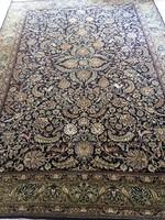 Gyönyörűséges antik iráni Isfahan szőnyeg rengeteg selyemmel