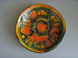 LUX II. retro iparművészeti kerámia falitál, fali tányér, átmérő 20 cm