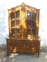 Barokk tálaló szekrény vitrin