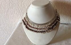 Gyöngy-Gránát kövekkel ezüst nyakék