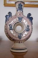 Antik különleges Zsolnay kulacs, perec-kulacs! gyűjtői