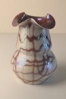 W. Kralik & Sohn irizáló váza; Szecessziós Kralik üveg váza (1900-1910)