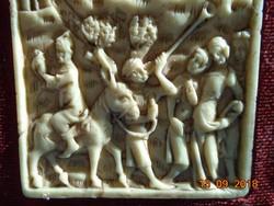 14 sz. Gótikus elefántcsont kép művészi másolata az Iparművészeti Múzeum eredeti kollekciójából