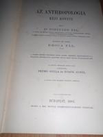 Dr. Topinard  Pál: Az anthropológia kézi könyve 1881