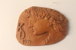 Retro kerámia kis falikép