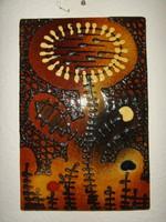 Retro kerámia falikép