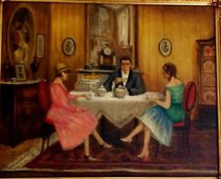 Szentgály - Ötórai tea festmény