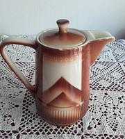 Retro mázas kerámia kávés teás kancsó kanna,kiöntő