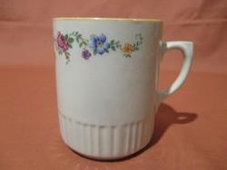 Rózsás-virágos Zsolnay bögre, csésze