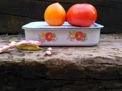 Zománcos, fedeles sütőedény 23x14,5cm