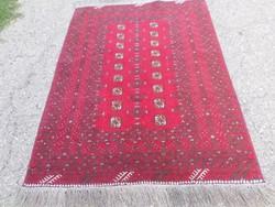Afgán kézi csomózású 100% gyapjú szőnyeg 154cmx102cm